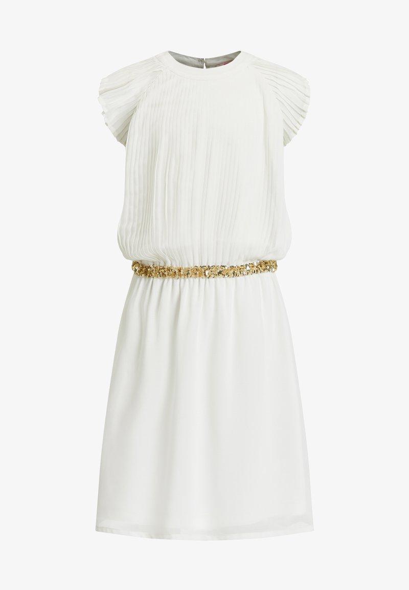 WE Fashion - MET PAILLETTEN - Korte jurk - white