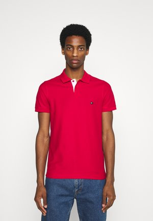 CONTRAST PLACKET SLIM  - Polo shirt - primary red