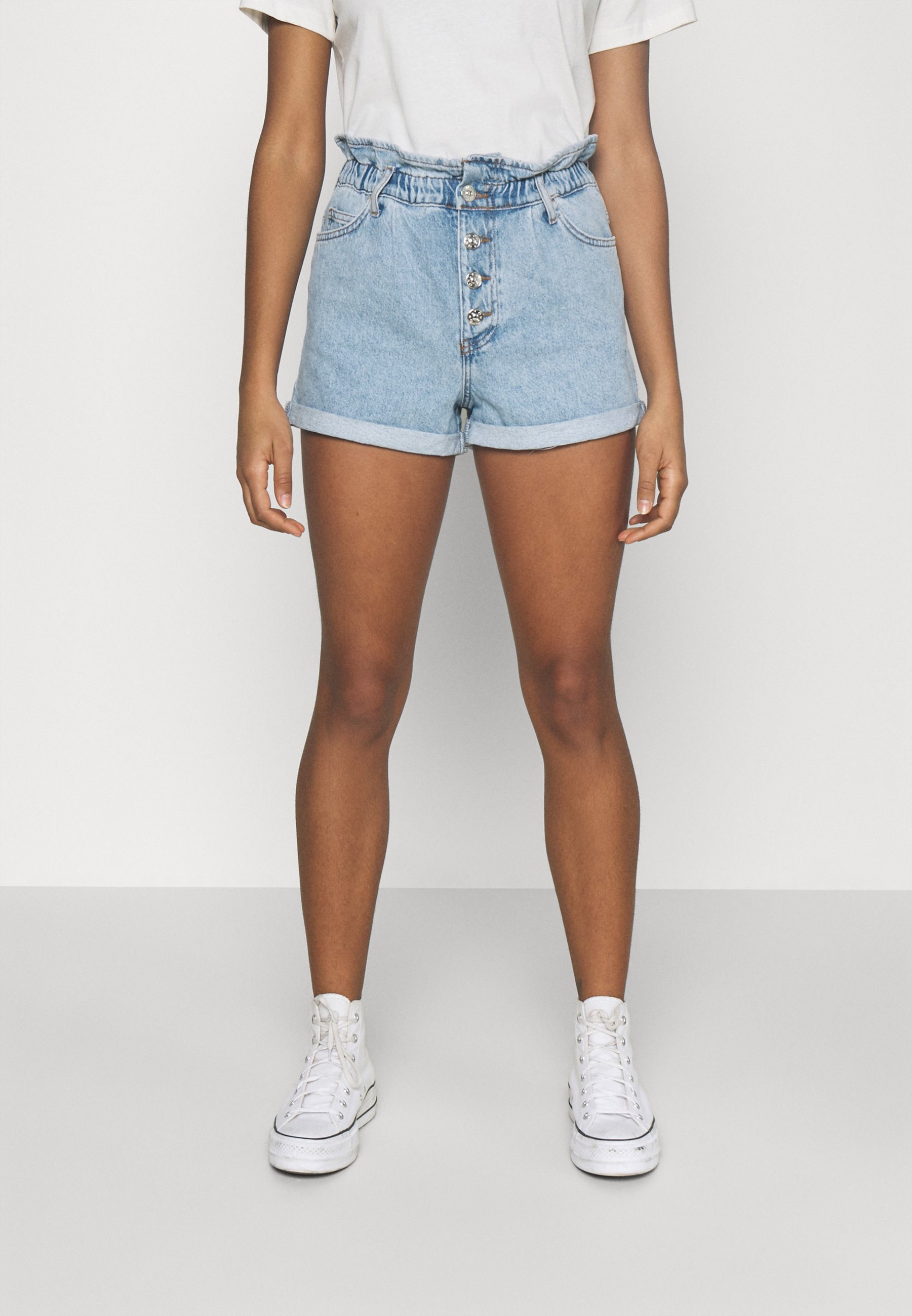 Women ONLCUBA LIFE PAPERBAG - Denim shorts