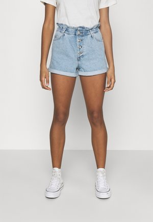 ONLCUBA LIFE PAPERBAG - Shorts vaqueros - light blue denim