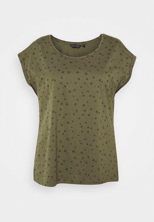 CURVE STAR ROLL SLEEVE TEE - T-shirt imprimé - multi