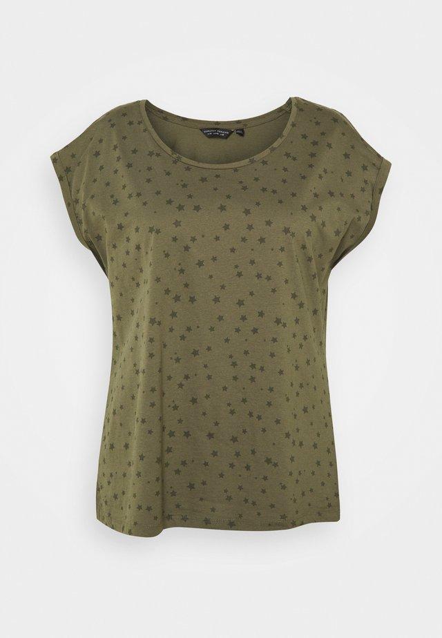 CURVE STAR ROLL SLEEVE TEE - T-shirt print - multi
