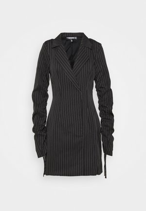 RUCHED SLEEVE PINSTRIPE - Blazer - black