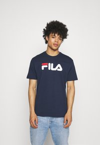 Fila - PURE TEE - Camiseta estampada - black iris - 0
