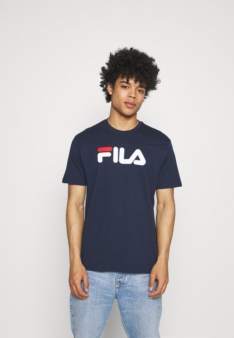 Fila - PURE TEE - Camiseta estampada - black iris