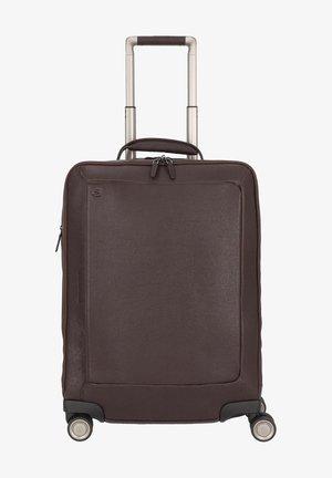 Wheeled suitcase - dark brown