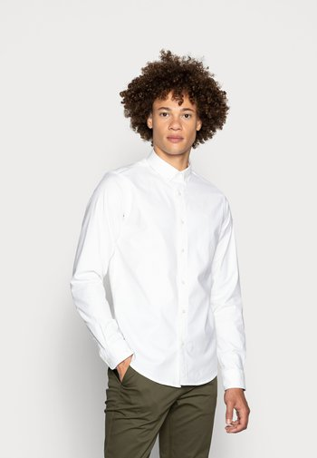 REGULAR FIT OXFORD SHIRT WITH STRETCH - Camicia - white