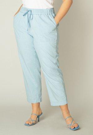 Trousers - bleach blue denim