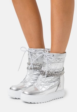 FARIBA - High heeled ankle boots - argent