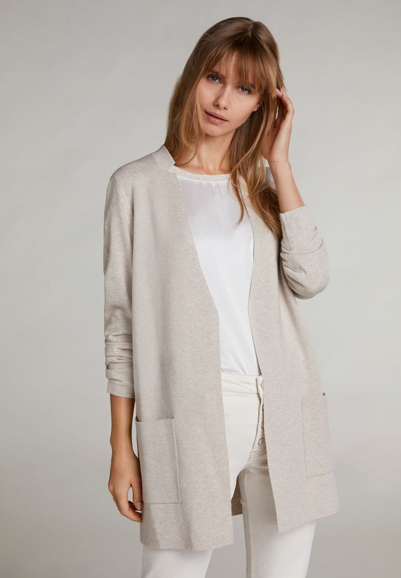 Oui - Cardigan - light stone