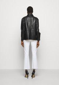 LIU JO - GIACCA CAMICIA - Leather jacket - nero - 2