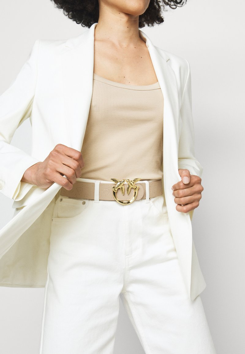 Pinko - BERRY MONOGRAM BELT - Belt - beige