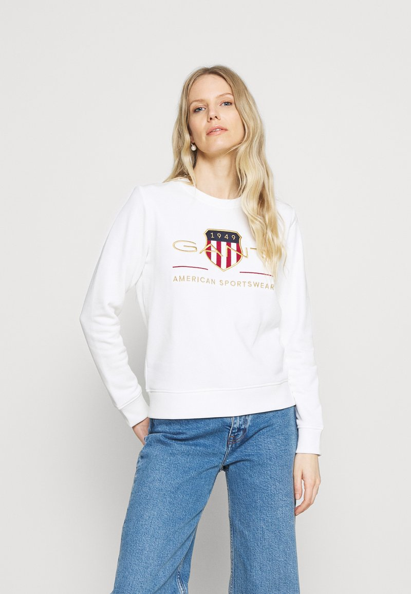 GANT - ARCHIVE SHIELD - Sweatshirt - eggshell