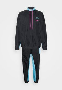 Nike Performance - NBA MIAMI HEAT CITY EDITION TRACKSUIT - Club wear - black/blue gale/laser fuchsia - 0