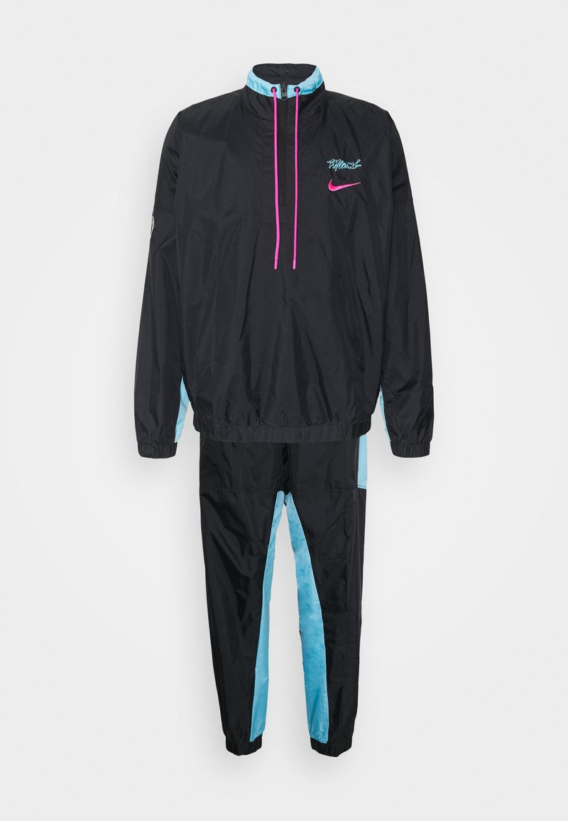 Nike Performance - NBA MIAMI HEAT CITY EDITION TRACKSUIT - Club wear - black/blue gale/laser fuchsia