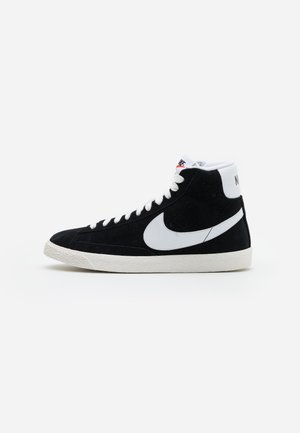 BLAZER MID UNISEX - Zapatillas altas - black/white/sail/total orange