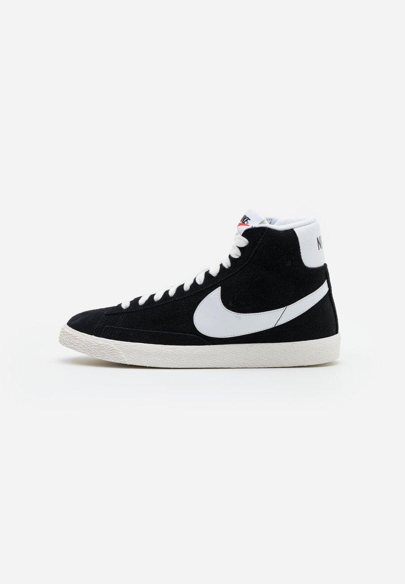 Nike Sportswear - BLAZER MID UNISEX - Zapatillas altas - black/white/sail/total orange