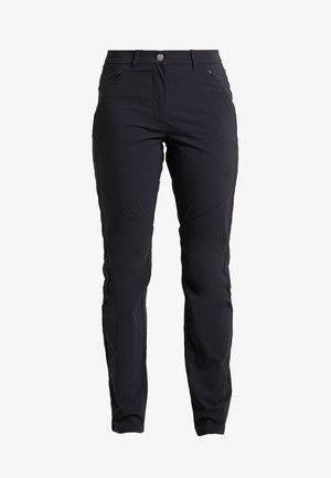 HIKING PANTS WOMEN - Długie spodnie trekkingowe - black