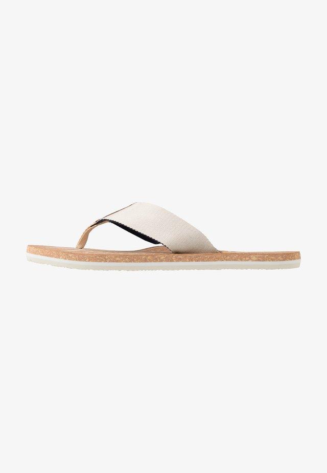 SIGNATURE BEACH - T-bar sandals - beige