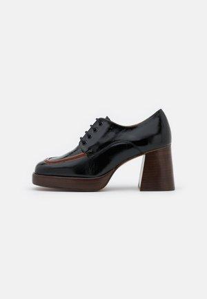BOPHA - Lace-up heels - brillant noir