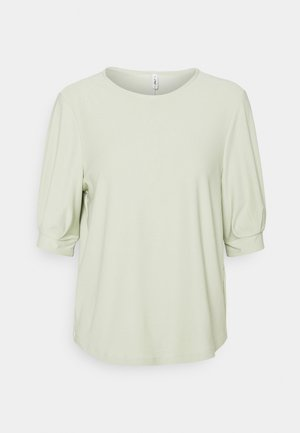 ONLJENNY LIFE PLEAT SLEEVE - Basic T-shirt - desert sage
