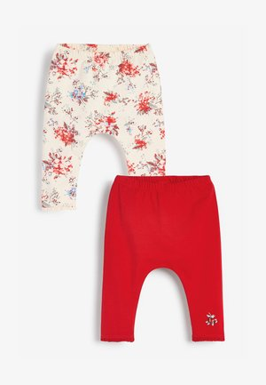 2 PACK - Leggings - Trousers - red