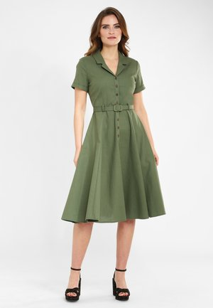 CATERINA VINTAGE SWING - Shirt dress - green