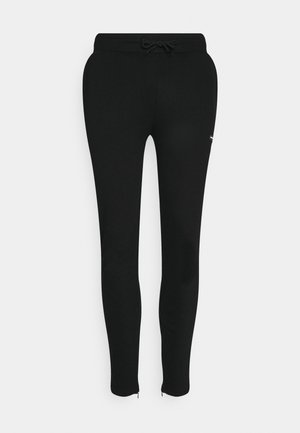 ESSENTIAL JOGGER WITH RUBBER BADGE - Pantaloni sportivi - black