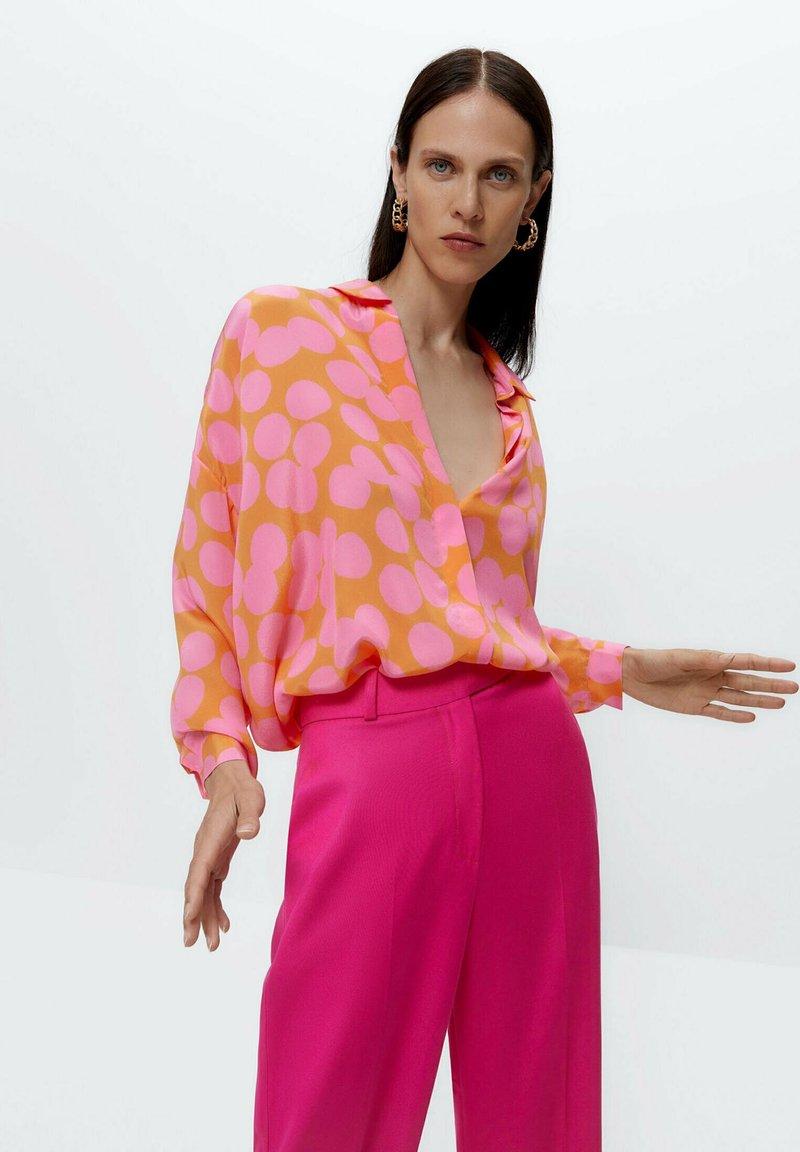 Uterqüe - Button-down blouse - multi coloured