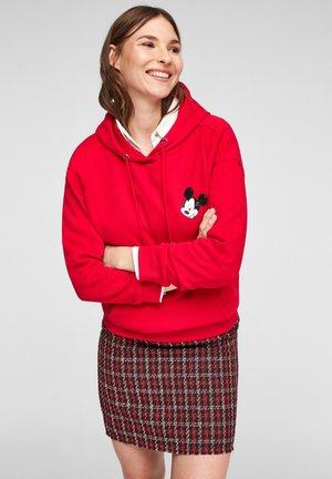 MIT MICKEY MOUSE-PATCH - Hoodie - red