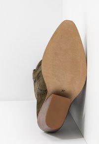 RE:DESIGNED - DARLA - Kovbojské/motorkářské boty - army green - 6