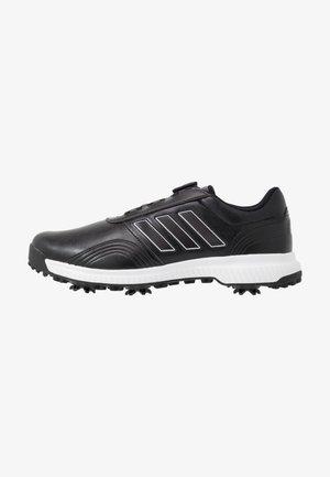 CP TRAXION BOA - Obuwie do golfa - core black/footwear white/silver metallic
