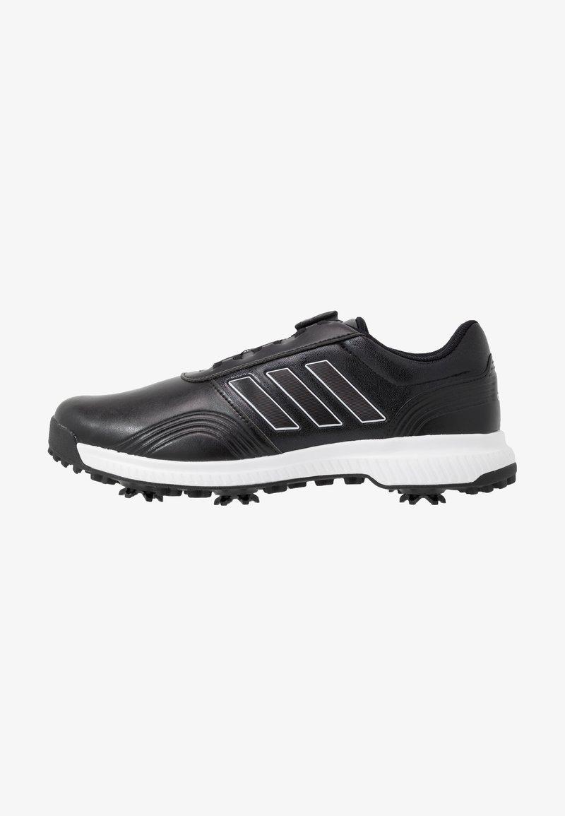 adidas Golf - CP TRAXION BOA - Golfové boty - core black/footwear white/silver metallic