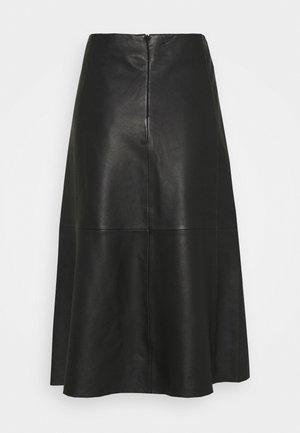 MARVIN - A-line skirt - black