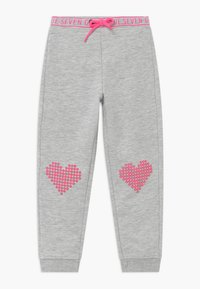 Blue Seven - KIDS HEARTS  - Tracksuit bottoms - nebel - 0