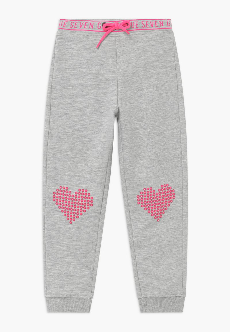 Blue Seven - KIDS HEARTS  - Tracksuit bottoms - nebel
