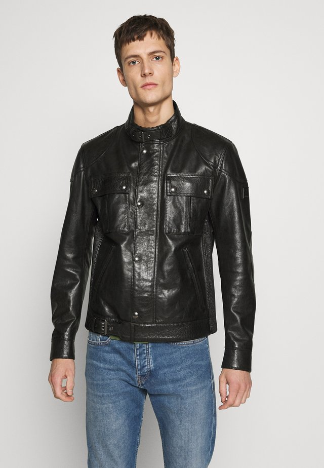 Big & Tall GANGSTER - Leather jacket - black