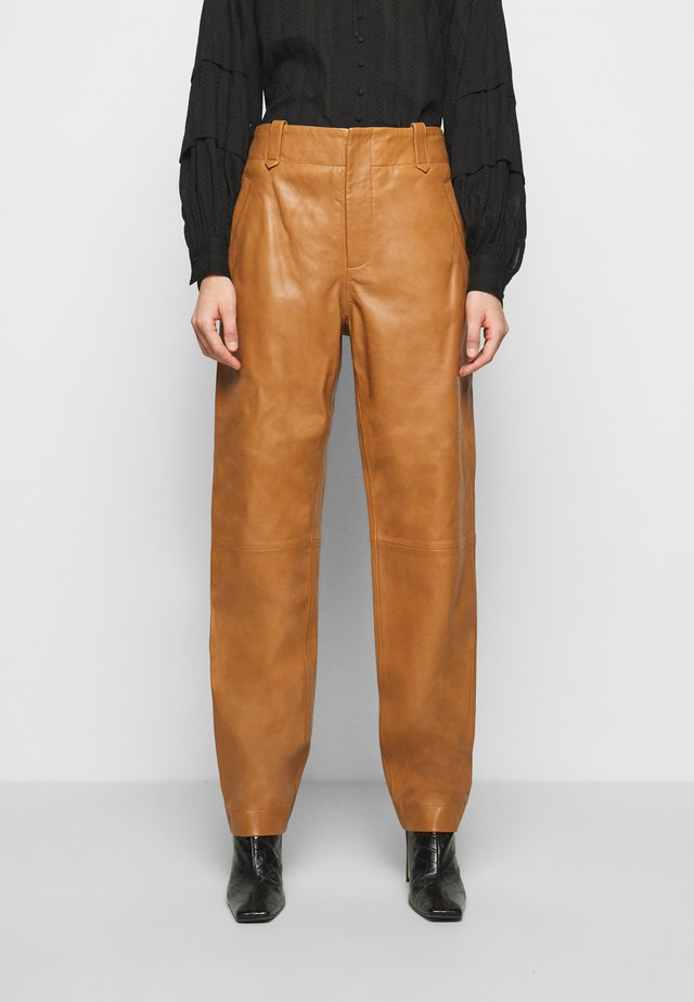 Pantalon en cuir - brown
