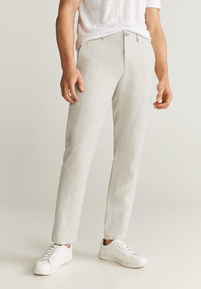 Mango - OYSTER - Pantalon classique - ecru