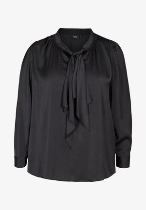 WITH A BOW DETAIL - Blouse - black