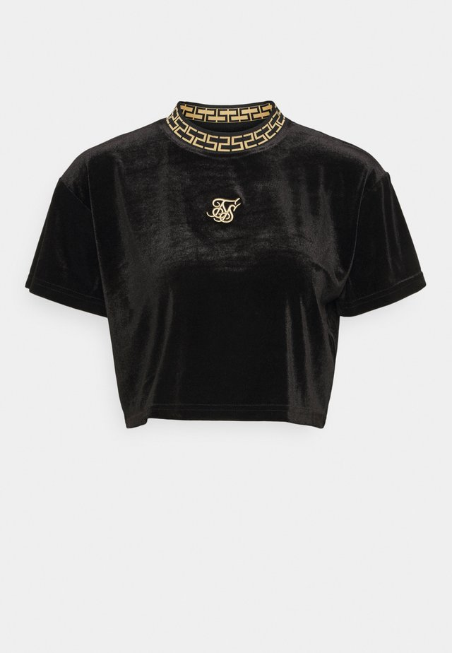LUXURY CROP TEE - Printtipaita - black