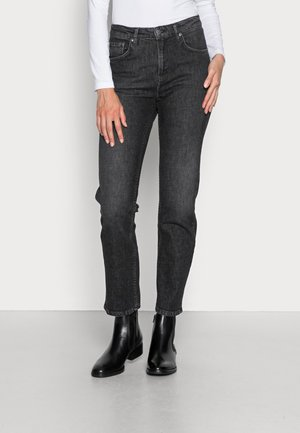 STRAIGHT SALLY PIXELATED GREY - Jeansy Straight Leg - pixelated grey