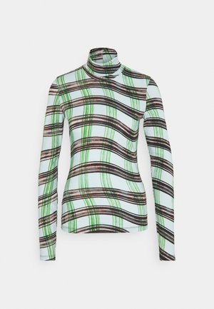 LONG SLEEVE TURTLENECK - Camiseta de manga larga - baby blue/green