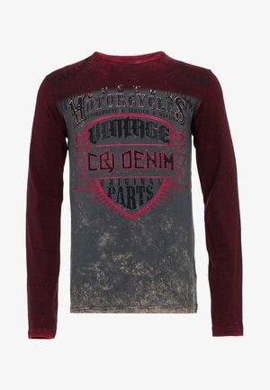 MIT COOLEM VINTAGE-PRINT - Sweatshirt - bordeaux