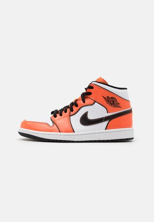 AIR 1 MID SE - Korkeavartiset tennarit - turf orange/black/white