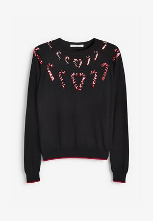 CHRISTMAS CANDY - Jumper - black