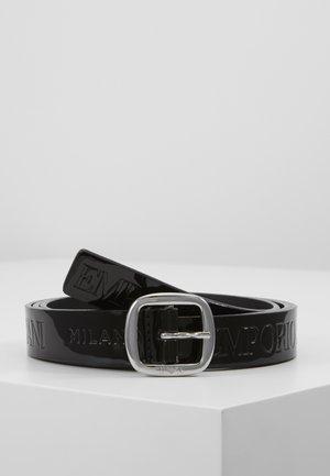 PATENT NARROW LOGO BELT - Cintura - nero