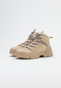 ONLY SHOES - ONLSYLKE LACE UP - Ankelboots - sand - 2