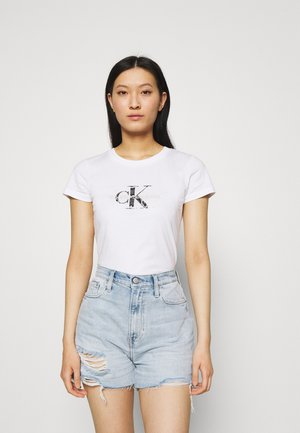 MONOGRAM TEE - Print T-shirt - white