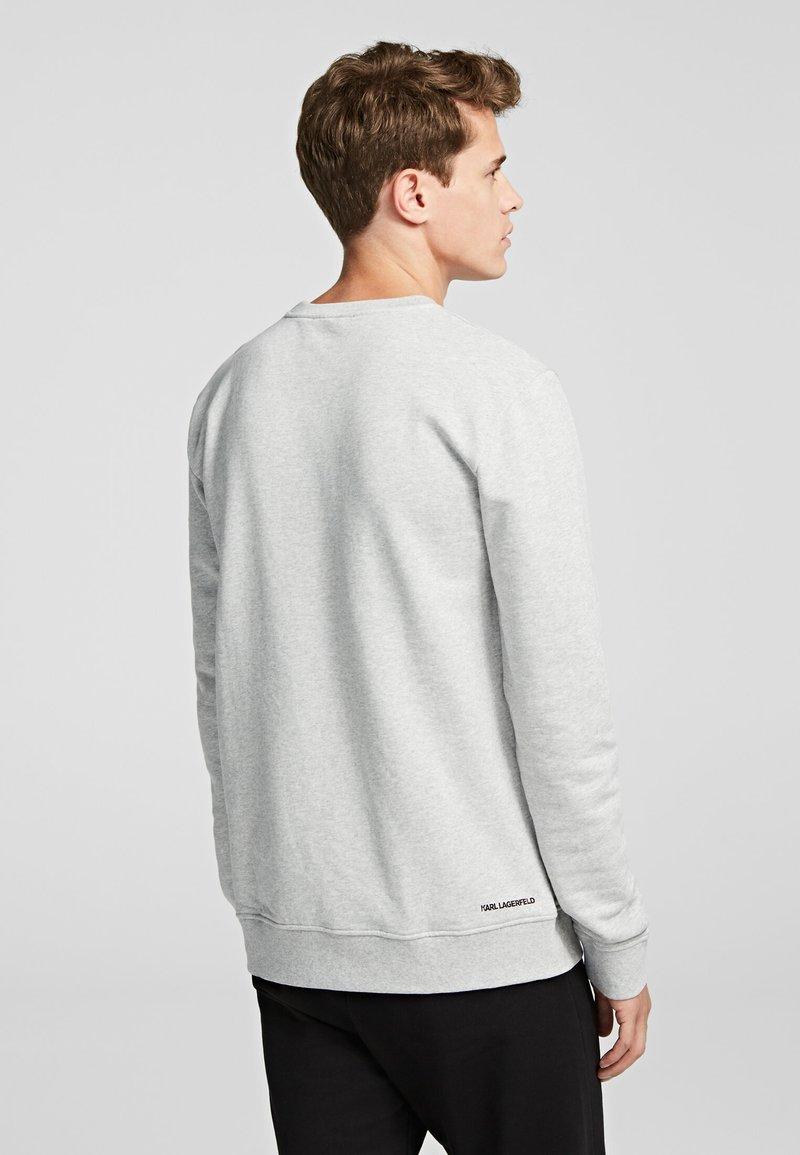 KARL LAGERFELD RUBBER KARL PATCH - Sweatshirt - grey melange/hellgrau L0zTeh